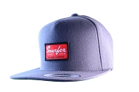 Snurfer Patch 5 Panel Snapback Hat [Gray/Red]
