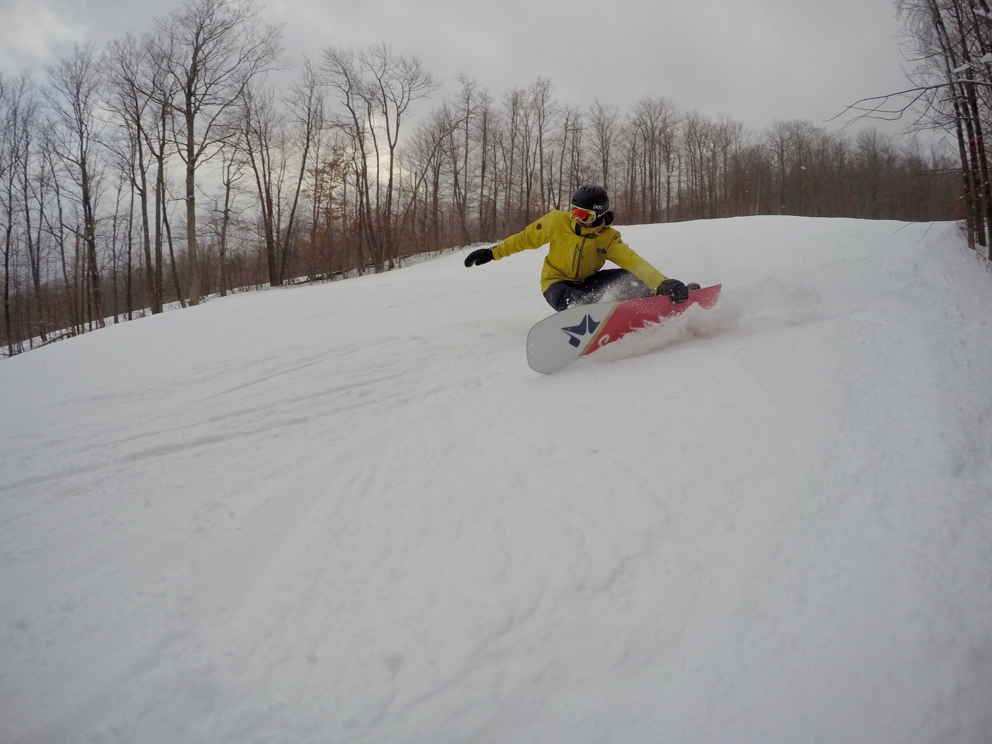 Snurfer x Rome Powder Division LTD 148 At Okemo Mountain