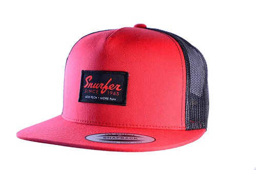 Snurfer Patch 5 Panel Snapback Hat [Red/Black]