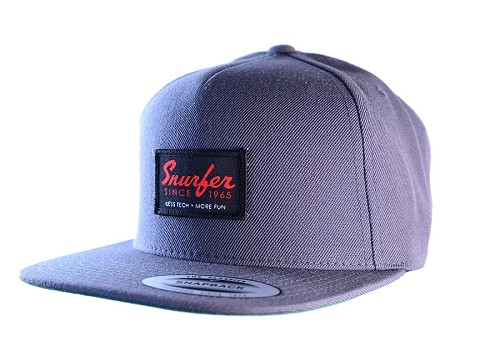 Snurfer Patch 5 Panel Snapback Hat [Gray/Black]